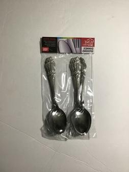 1 SET 12 PC CHEF VALLEY STAINLESS STEEL DINNER SPOONS