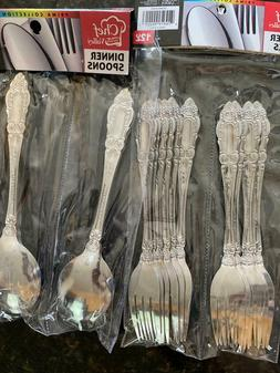 12 PCS Table 18/10 Stainless Steel Dinner Forks/Spoon, Mirro