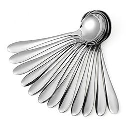 12 Piece of Large Soup Spoons/Stainless Steel Bouillion Spoo