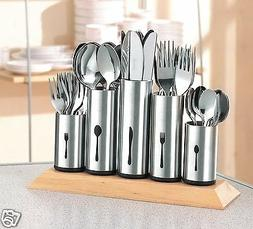 ESMEYER 18/8 Stainless Steel Flatware Organizer Holder Caddy