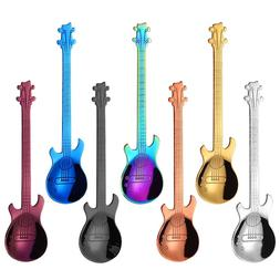 1pcs Guitar Coffee Spoon Set Stainless Steel Dessert Ice Cre
