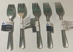 20 Mainstays Heavy 18/0 Metal Dinner Forks Stainless Steel F