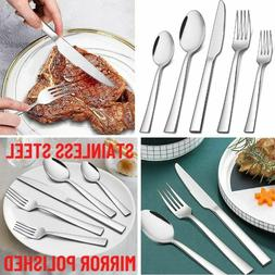 20 Pcs Stainless Steel Flatware Set Service for 4 Kitchen Cu