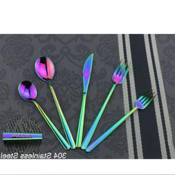 20 piece Shiny Flatware Set 18/10 Stainless Steel Cutlery Ra