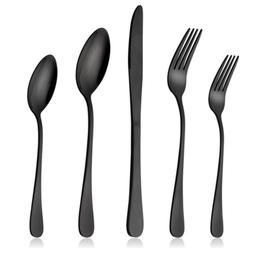 20 piece Stainless Steel Dinner Knife Spoon Silverware Matte
