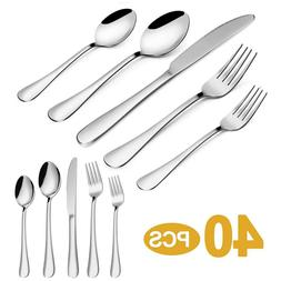 20pcs Flatware Set Cutlery Set Stainless Steel 18/10 Silverw