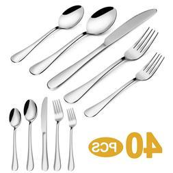 20pcs Flatware Set Cutlery Set Stainless Steel 18/10 Silverw