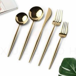 20pcs/set Luxury Gold Flatware Set Cutlery Silverware Dinner
