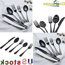 20Pcs/Set Stainless Steel Dinner Knife Spoon Silverware glos
