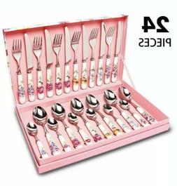 HOBO 24 Piece Flatware Set, Cutlery Sets Stainless Steel
