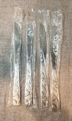 4 NEW Dinner Knife Knives Cambridge Silversmiths Conquest Sa
