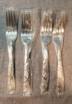 4 new dinner salad small forks silversmiths