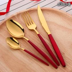 4 Pcs/Set Elegant China Red Table <font><b>Gold</b></font> C