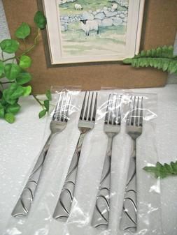 4 sasha sand stainless steel dinner forks