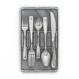 40pcs Cambridge Silversmiths Lynn Mirror Silverware Set with