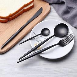 4Pcs Flatware Cutlery Silverware Set Stainless Steel Knife F