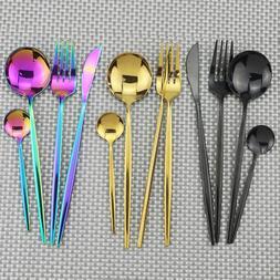 4pcs Gold Dinnerware Set <font><b>18</b></font>/<font><b>10<