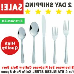 Silverware Set Flatware Cutlery Sets Serv for 4 STAINLESS ST