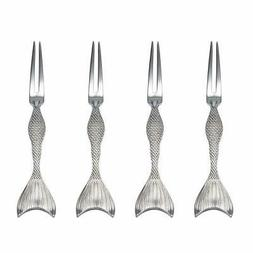 Wallace 5228035 Mermaid Food Pick Set, One Size, Stainless S
