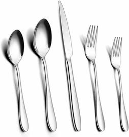 60 PCS Stainless Steel Silverware Flatware Set Kitchen Cutle