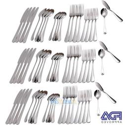 66 Piece Stainless Steel Silverware Cutlery Casual Flatware