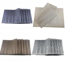 6pcs Tree Tableware Placemats Mats Table Coasters Insulation