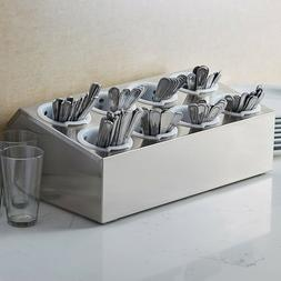 8 Hole Stainless Steel Silverware Flatware Cutlery Holder Or