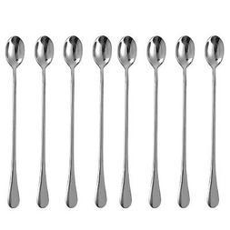 Eslite 9.25-Inch Long Handle Iced Tea Spoon,Stainless Steel