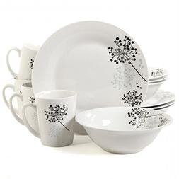 Gibson 91698.12 12 Piece Fine Ceramic Dinnerware Set For 4