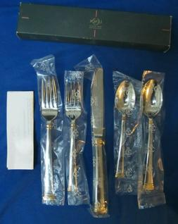Lenox 9828092 Eternal Gold Flatware 5 Piece Place Setting -