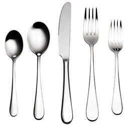 Bruntmor, ALBA Silverware Royal 45 Piece Flatware Cutlery Se