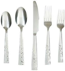 Cambridge Silversmiths Blossom Sand 20-Piece Flatware Set, S