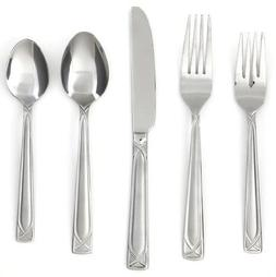 Cambridge Silversmiths Crossroad Sand 45-Piece Flatware Set