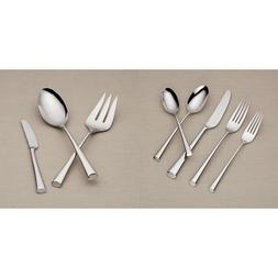 Dansk Bistro Cafe 43 Piece 18/10 Stainless Steel Flatware Se