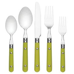 Dansk Burbs Lily White 20 Piece Flatware Set, Grass