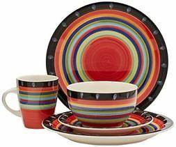 Gibson Home 97694.16r Casa Stella 16-Piece Dinnerware Set, R