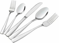HOMMP Stainless Steel Flatware Sets, 60-piece, Service for 1
