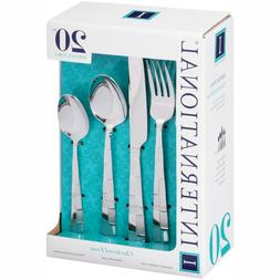 International Silver 5108515 Checkered Frost Stainless Steel