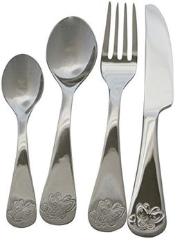 Kids 4 Piece Butterfly Stainless Steel Flatware Set