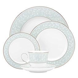 Lenox 5-Piece Opal Innocence Blue Plate Setting, White
