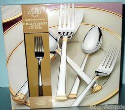 Lenox Eternity Gold 45 Piece Flatware Set New in Box Service