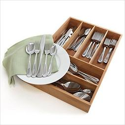 Oneida Flight 45-Pc Set, Service for 8 with Bamboo Storage C