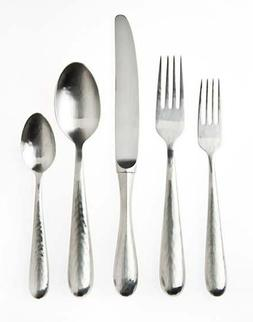 Ricci 5-Piece Florence Hammered Polished Place Setting, Stai
