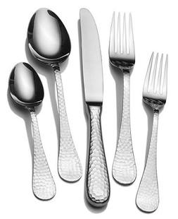 Wallace 730936024817 Continental Hammered 65-Piece 18/10 Sta