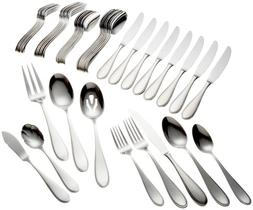 Yamazaki Austen 45-Piece Stainless Steel Flatware Set, Servi