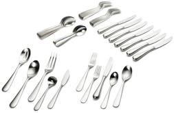 Yamazaki Median 45-Piece Stainless-Steel Flatware Set, Servi