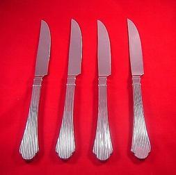 Lenox Abilene 4 Stainless 18/10 Glossy SH Steak Knives NEW