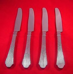 Lenox Abilene 4 Stainless 18/10 Glossy SH Dinner Knives NEW