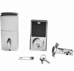 AmazonBasics Electronic Deadbolt Door Lock Classic, Satin Ni