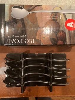 Alessi AMMI01CUS4 Set 4 Biglove Ice Cream Spoons, Set Of 4,